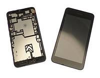 Nokia Lumia 530 LCD, модуль, дисплей с сенсорным экраном с рамкой в сборе