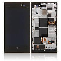 Nokia Lumia 928 LCD, модуль, дисплей с сенсорным экраном с рамкой в сборе