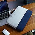 """Сумка для MacBook Air/Pro 13,3"""" 2012-2021 - сірий з синім, фото 2"""