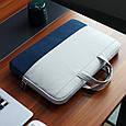 """Сумка для MacBook Air/Pro 13,3"""" 2012-2021 - сірий з синім, фото 3"""