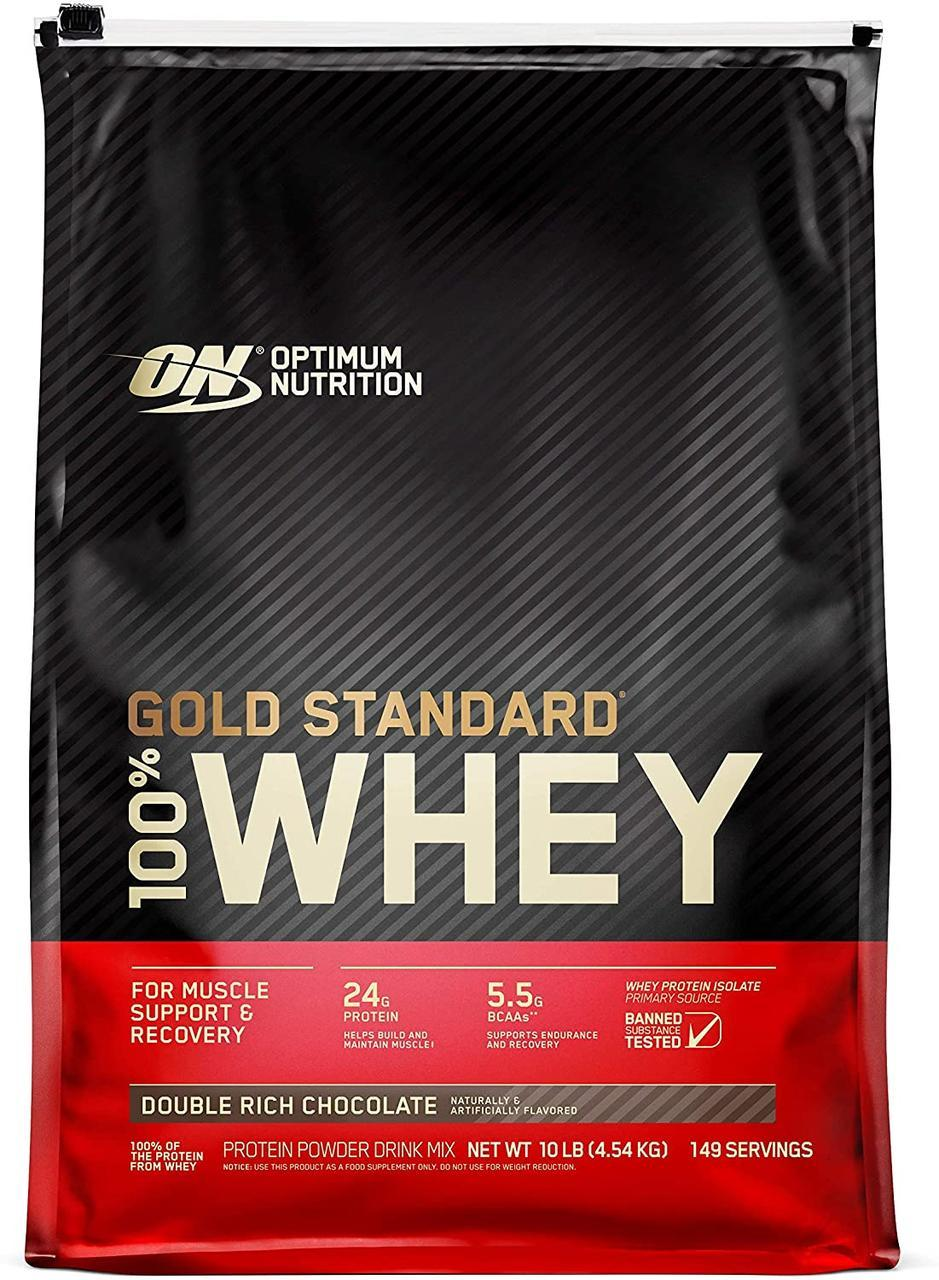Протеїн 100% Whey Gold Standard Optimum Nutrition 4.54 кг Подвійний шоколад