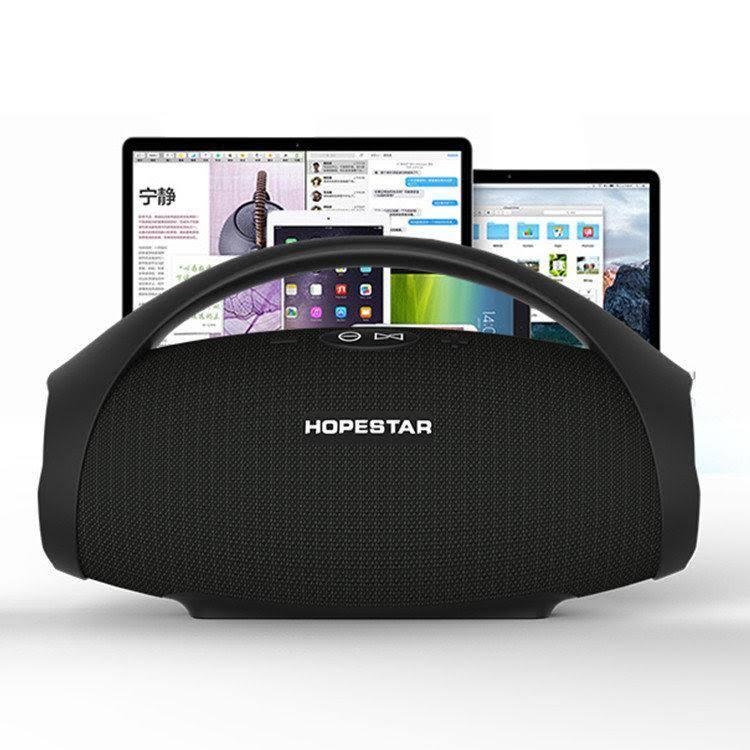 Портативна Стерео Акустика Bluetooth Hopestar H32 з Басовим Звуком Вологостійка Блютуз КОЛОНКА з Ручкою