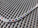 """Срібний браслет Арабська Бісмарк """"з камінням, 17 см, 10 гр., фото 5"""
