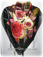 Шелковый платок Гармония черный