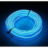 Гибкий неон неоновая нить подсветка салона в прикуриватель голубой плоский 2000-05307