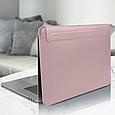 "Чохол конверт WIWU Skin Pro II PU Leather Sleeve для MacBook Pro/Air 13.3"" - рожевий, фото 2"