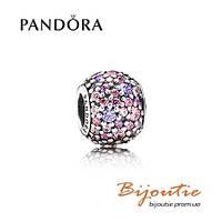 Pandora шарм РАЗНОЦВЕТНОЕ ПАВЕ 791261ACZMX серебро 925 Пандора оригинал