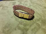 Браслет потрійний бісмарк позолота, 21 см., 45 гр., фото 2