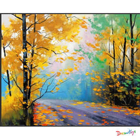 """Алмазна мозаїка """"Золота осінь-2"""" 30*40 см, з рамкою, в кор. 41*31*2,5 см"""