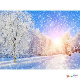 """Алмазна мозаїка """"Зимова казка"""", 30*40 см, з рамкою, в кор. 41*31*2,5 см"""
