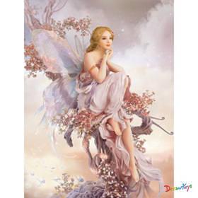 """Алмазна мозаїка """"Квіткова фея"""" 30*40 см, з рамкою, в кор. 41*31*2,5 см"""