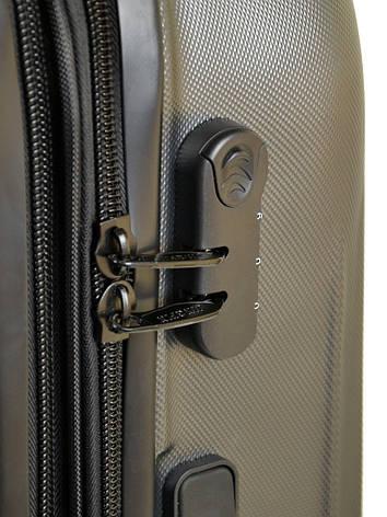 Дорожная Чемодан 2/1 ABS-пластик 8386 grey змейка, фото 2