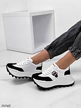 Кроссовки на высокой платформе 11043 (ЯМ), фото 3