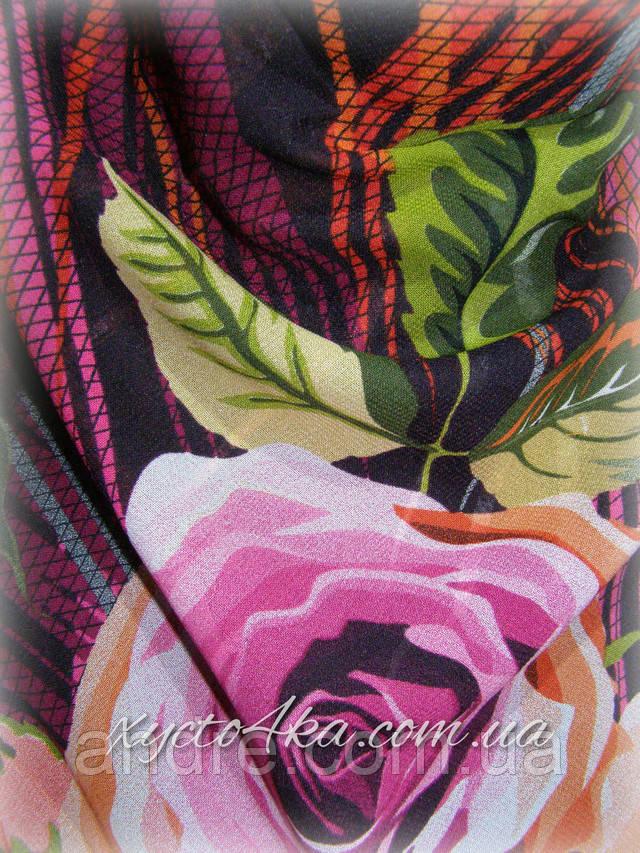 Шелковый платок Гармония сиреневый