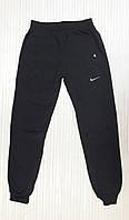 Спортивні теплі чоловічі штани зимові з манжетом, плащі на флісі темно-сірий (розміри 46-54)