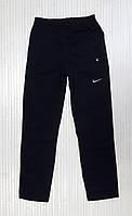 Спортивні теплі чоловічі зимові штани прямі, плащі на флісі темно-синій (розміри 46-54), фото 1