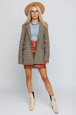 Модный женский твидовый жакет