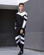 Мужской спортивный костюм Адидас, черный с белым