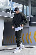 Мужской спортивный костюм (с футболкой), трёхнитка, хаки