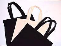 Однотонный шоппер эко сумка без рисунка из плотной ткани