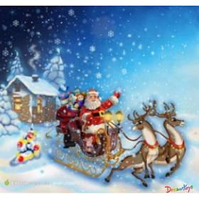 "Алмазна мозаїка ""Санта з подарунками"" 30*40 см, з рамкою, в кор. 41*31*2,5 см"