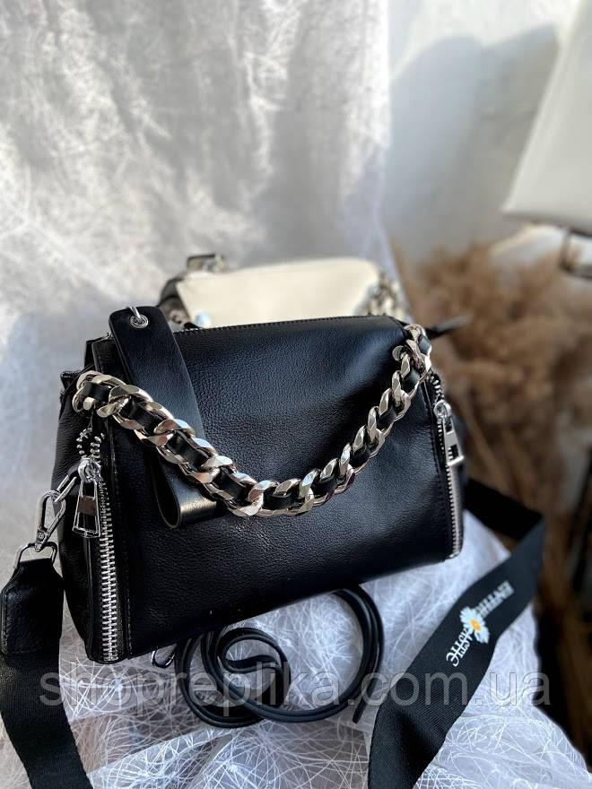 Сумка крос сбоди кожаная Женская кожаная сумка из натуральной кожи Модная Трендовая модель
