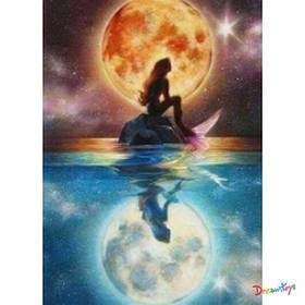 """Алмазна мозаїка """"повний Місяць"""" 30*40 см, з рамкою, в кор. 41*31*2,5 см"""
