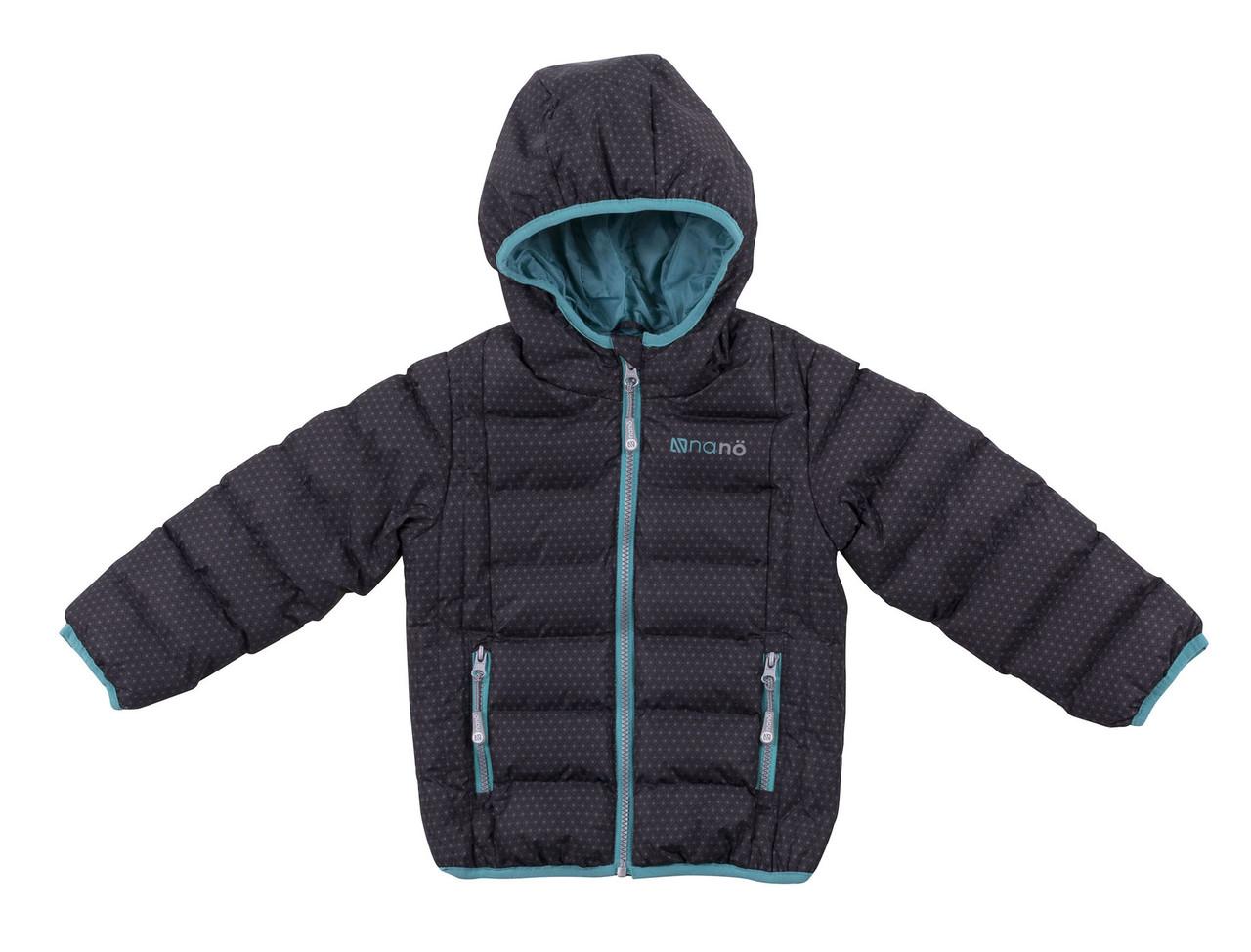 Демісезонна куртка для дівчинки Black Aop