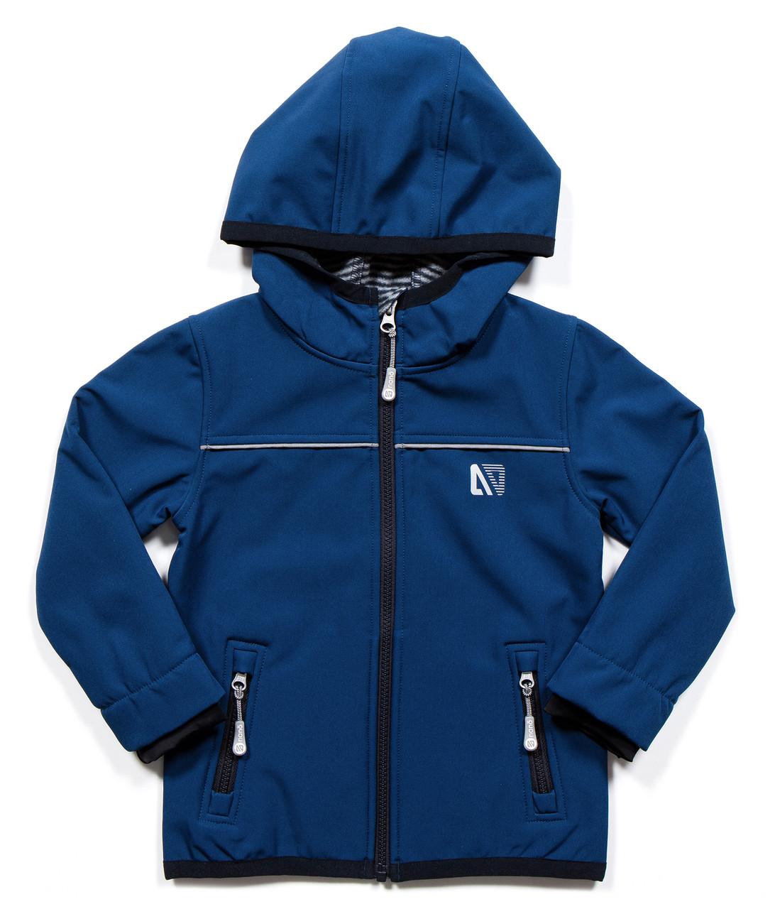 Демисезонная куртка SOFTSHELL для мальчика Blue Jay Mix