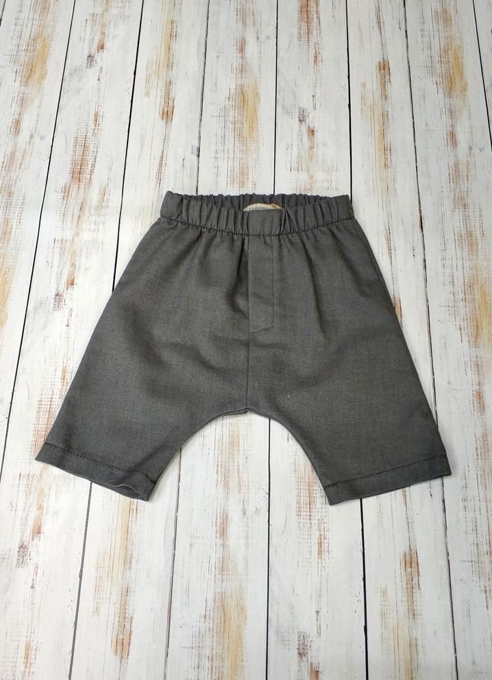 Дитячі шорти для хлопчика сірі видовжені