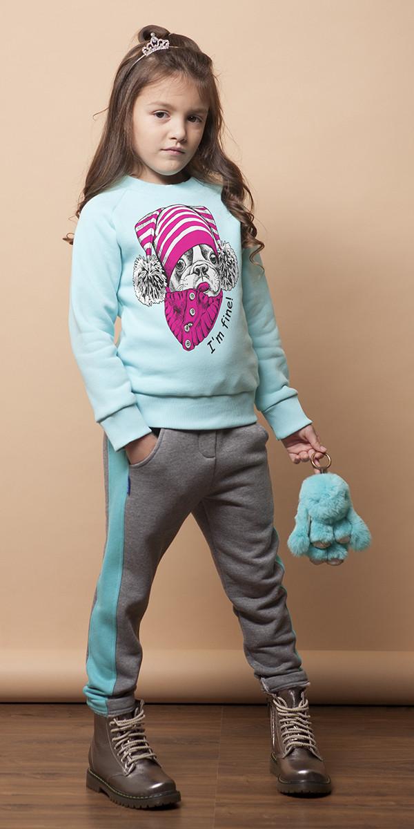 Спортивные брюки с начесом для девочки Лора