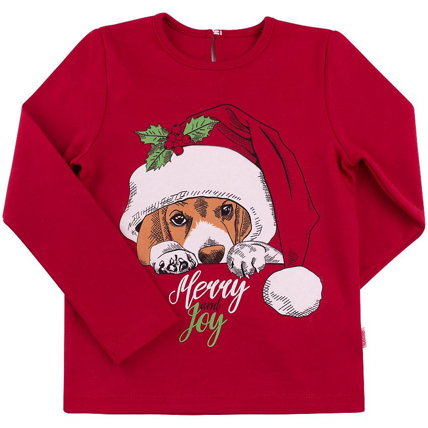 Рождественский реглан для девочки Бигль