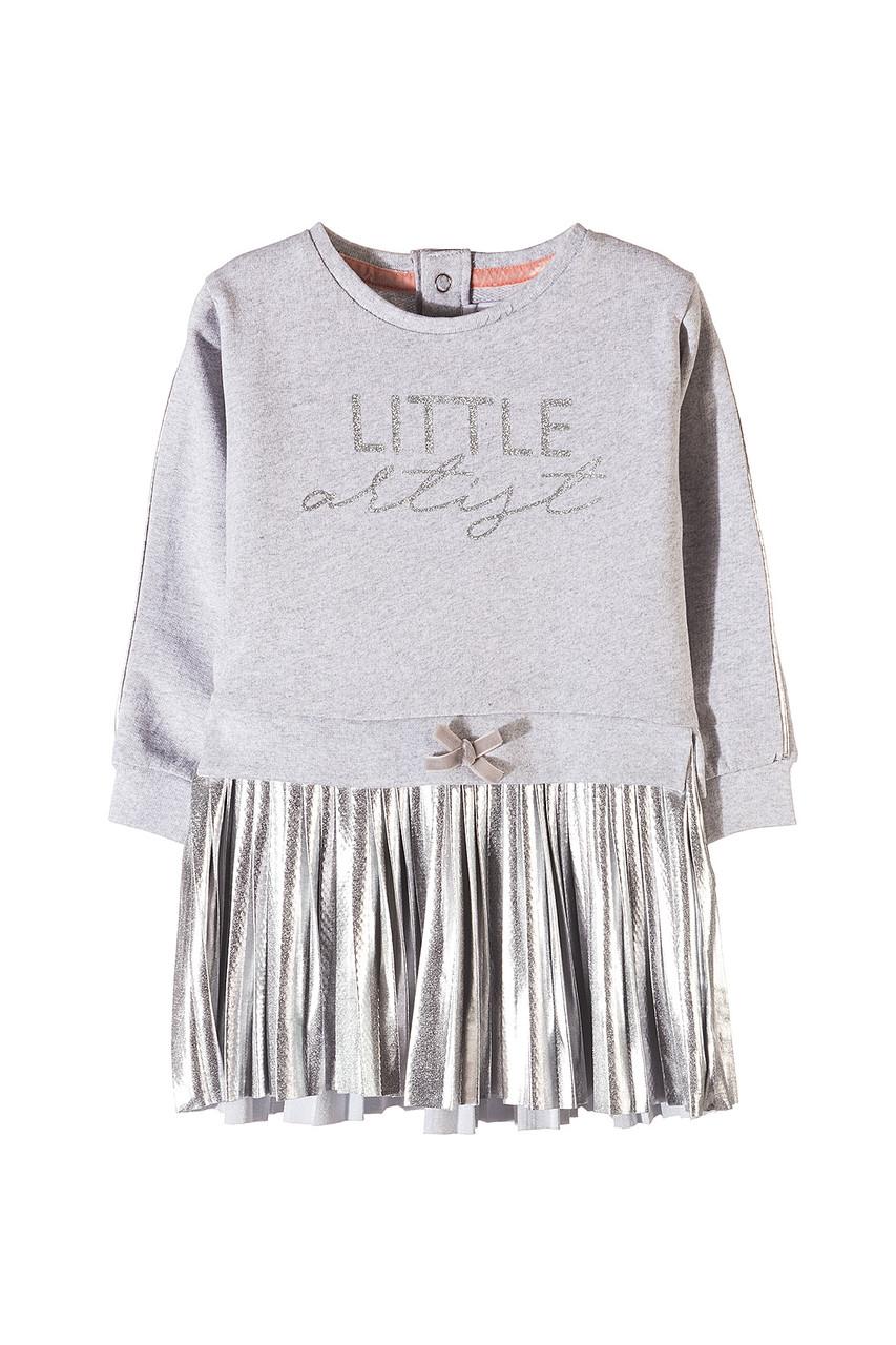 Платье для девочки серебро