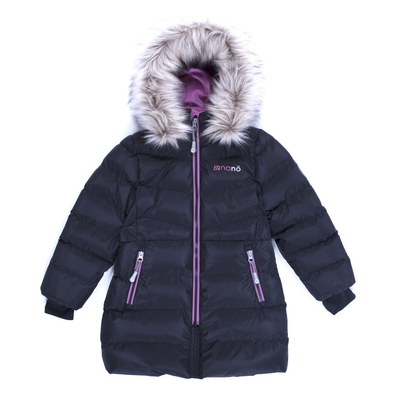 Пальто зимнее для девочки Black