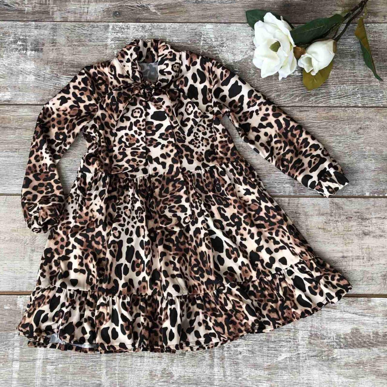 Плаття для дівчинки леопард