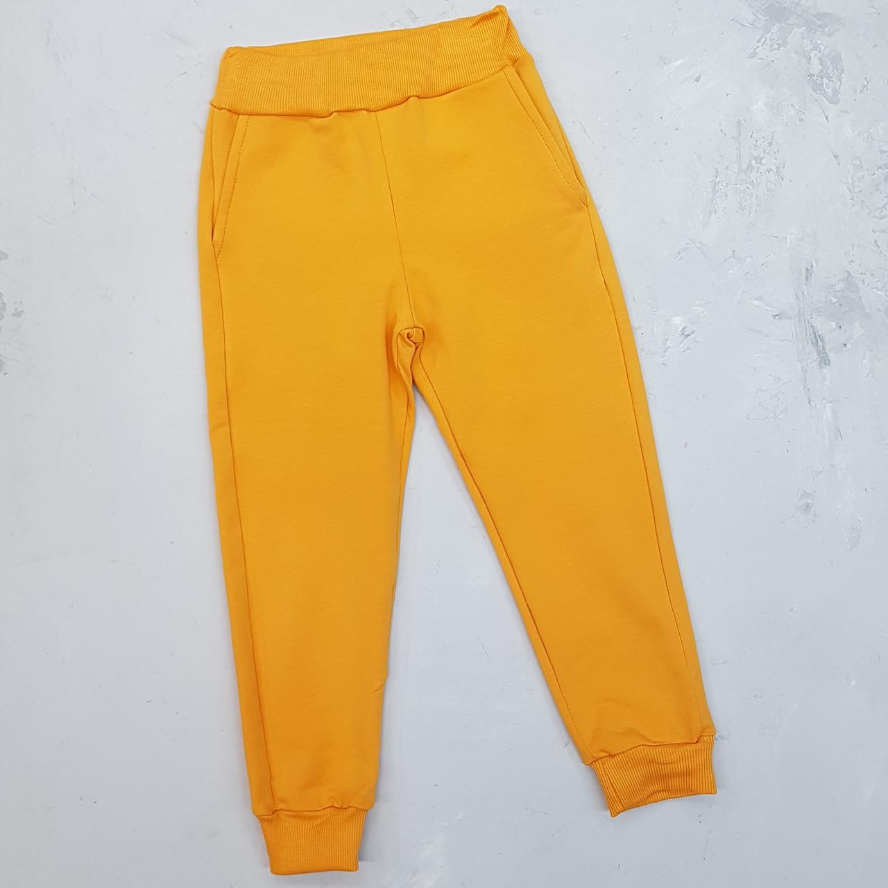 Дитячі спортивні штани для дівчинки жовті
