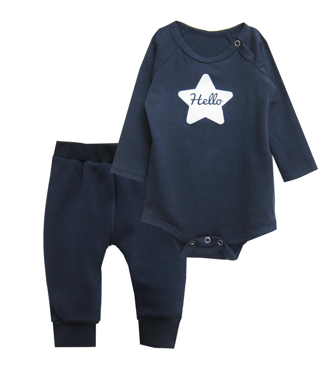 Дитячий костюм для хлопчика (боді, штанці)