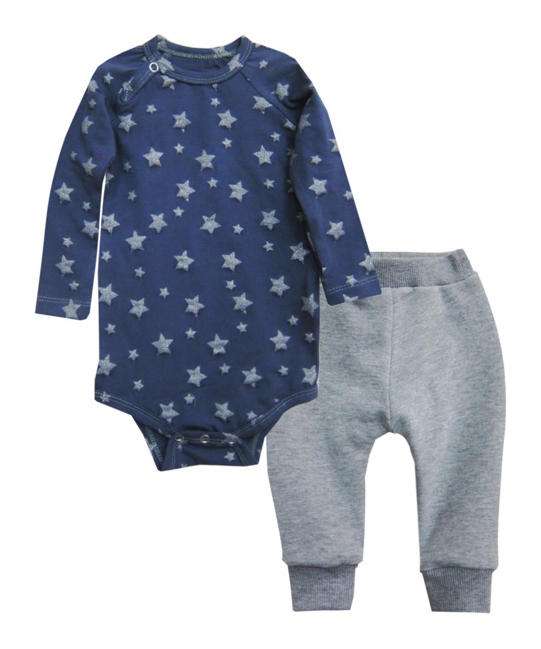 Дитячий комплект для хлопчика (боді, штанці) зірки