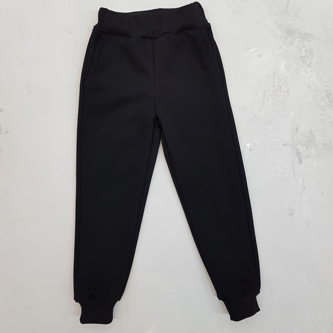 Спортивні штани чорні трехнить