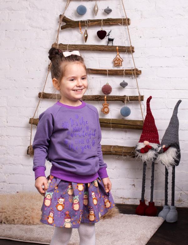 Детский комплект для девочки зима