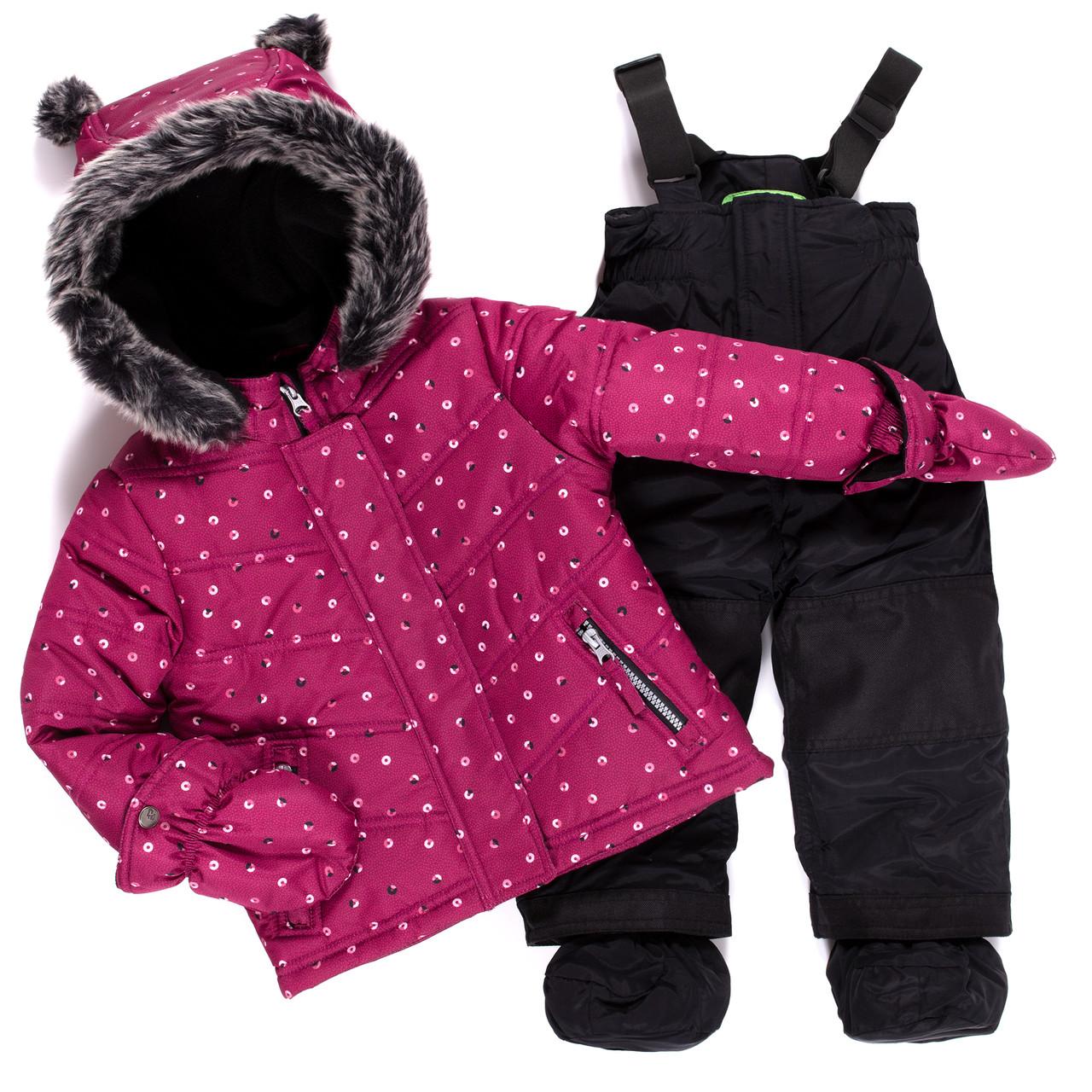 Теплый зимний комплект для девочки от peluche & tartine