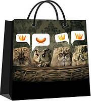 Бумажный пакет, маленький «Коты vs сова»