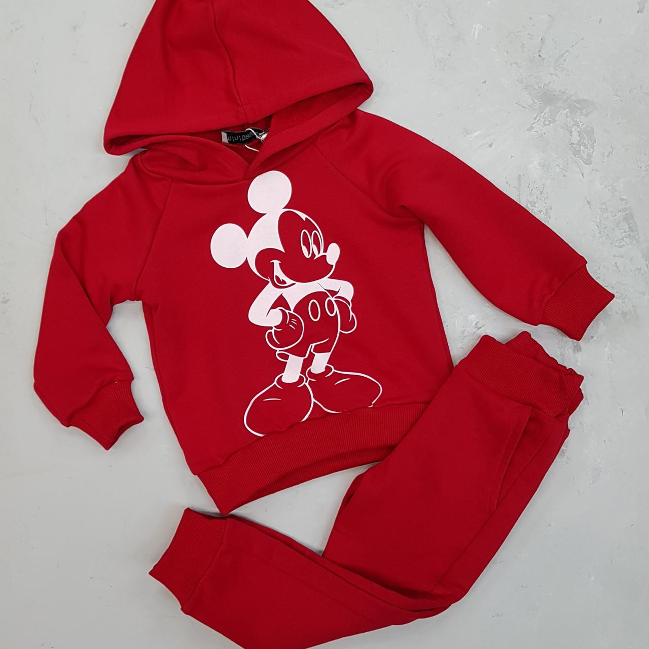Спортивний костюм для дівчинки Міккі червоний
