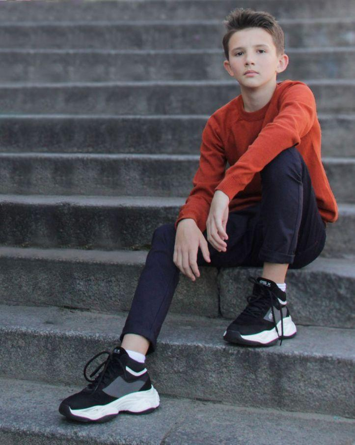 Джемпер на хлопчика теракот