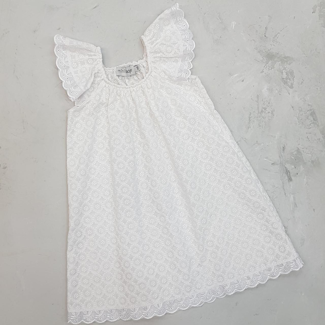 Батистовое платье для девочки белое