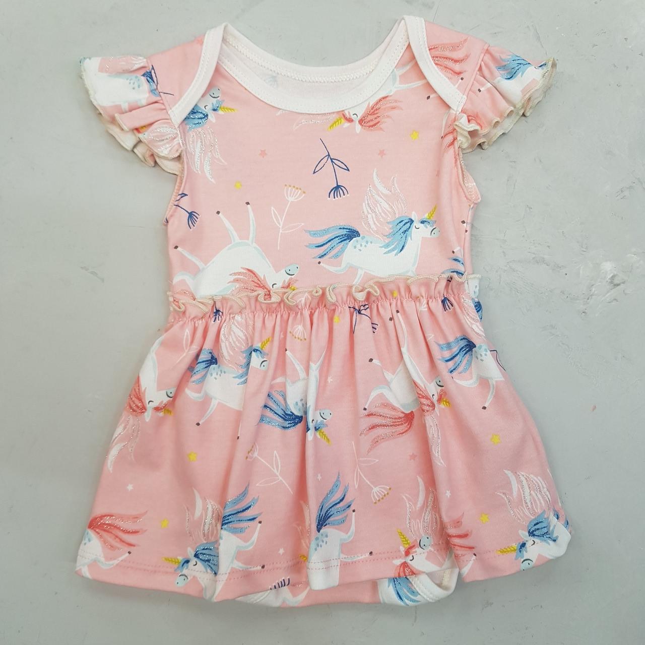 Дитячий боді для дівчинки єдиноріжки рожеве