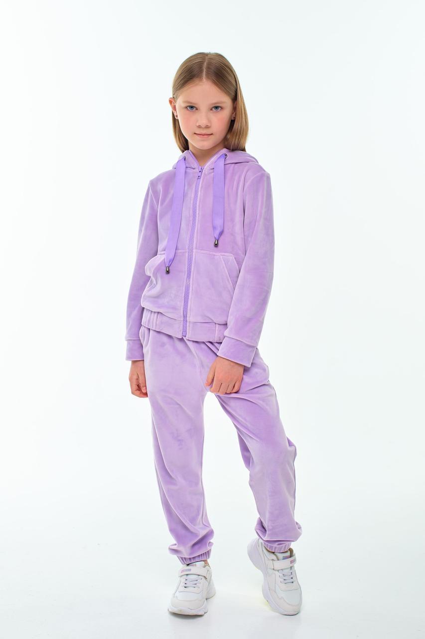 Детский велюровый костюм для девочки лаванда