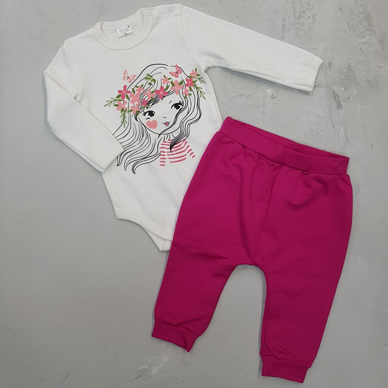 Комплект для девочки (бодик, штаны)