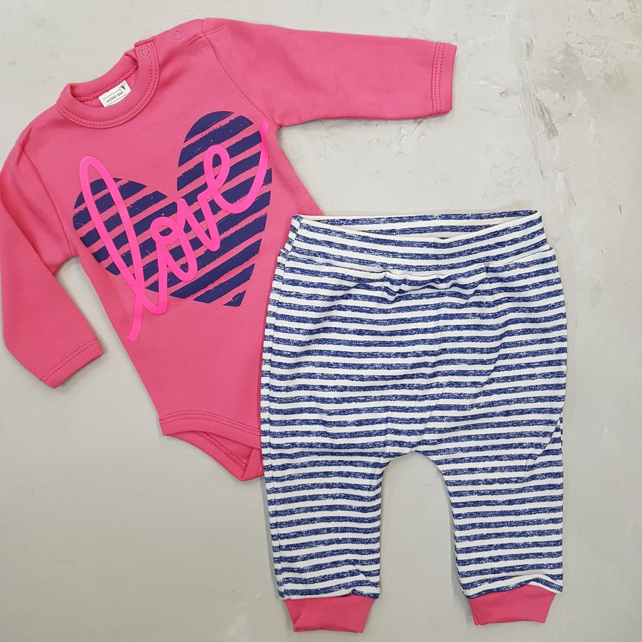 Комплект (боди, штаны) для девочки любовь