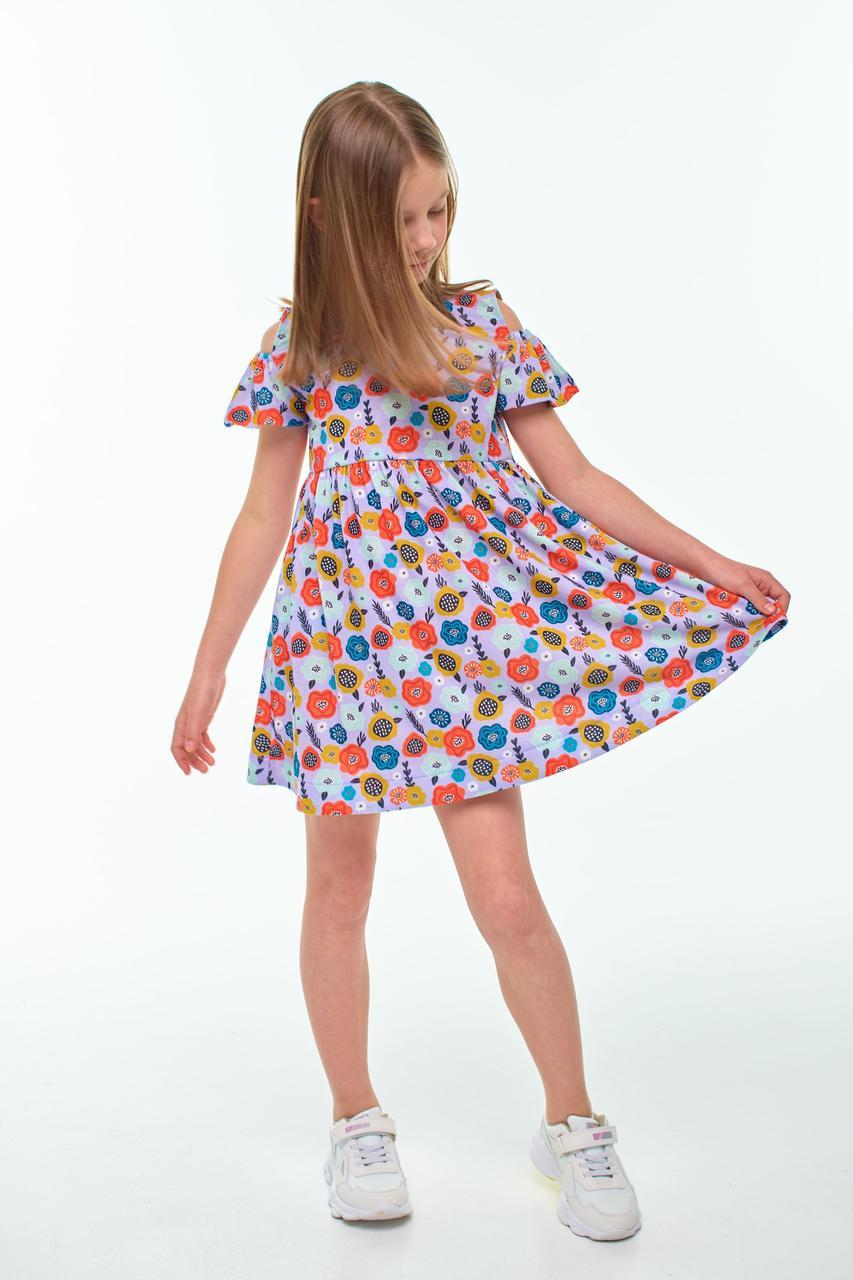 Летнее платье для девочки лаванда